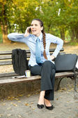 Frustrate businesswoman on phone — Stock Photo