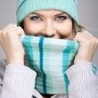 Beautiful woman with scarf — Stock Photo