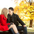 Young couple in love  -autumn love - Stockfoto