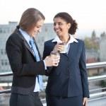 Business women on coffee break — Stock Photo