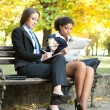 Young businesswomen on break — Stock Photo