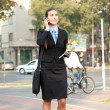 Busy businesswoman,  city life — Photo