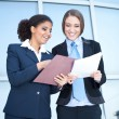 Two success businesswomen - Stock Photo