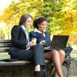 Two businesswomen working — Stock Photo