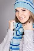 Funny winter girl — Stock Photo