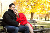 Affectionate couple in park — Stock Photo