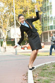 Funny businesswoman — Stockfoto