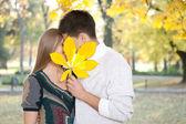 Beso oculto — Foto de Stock