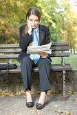 бизнес-леди с плохие новости — Стоковое фото