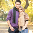 Foto Stock: Young loving couple