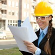 Smiling female engineer — Stock Photo