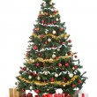 Christmas tree with gift boxes — Stock fotografie