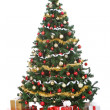 Stock Photo: Christmas tree with gift boxes