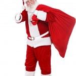 Santa Claus with big bag — Stock Photo