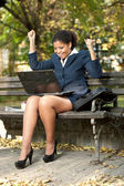 Happy afro businesswoman — Stock Photo