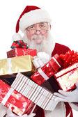 Santa dárky hospodářství — Stock fotografie