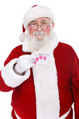 Santa holding credit card — Stock Photo