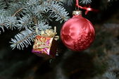 Ornaments for Christmas on white background — Stock Photo
