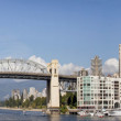 Vancouver BC Skyline and Burrard Bridge Panorama — Stock Photo #7094480