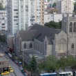 Saint Andrew Wesley United Church in Vancouver BC Downtown - Stock Photo