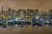Marina along Stanley Park in Vancouver BC — Stock Photo