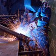 Stock Photo: Welder in factory