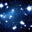 Illustrated stars in night sky — Stock Photo