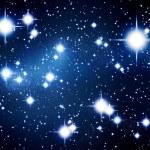 Illustrated stars in night sky — Stock Photo