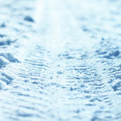 Texture of snow — Stock Photo