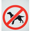 Stock Photo: Forbidden dogs sign