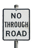No through road sign — Stock Photo