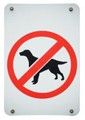 Forbidden dogs sign — Stock Photo