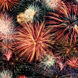 Multicolored fireworks horizontal - 图库照片