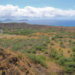 Diamondhead crater with Koko Head in the distance - 图库照片