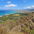 Wide-angle view of Honolulu, Hawaii - 图库照片