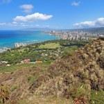 Wide-angle view of Honolulu, Hawaii — Stock Photo