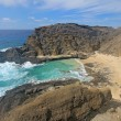 View of Halona Beach Cove in Hawaii - 图库照片