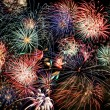 Multicolored fireworks fill the frame - 图库照片