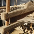 Stock Photo: Hand Weaving loom detail
