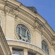 Romanian Athenaeum-detail during the winter — Stock Photo