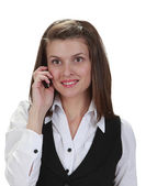 Young woman on the phone — Stockfoto