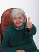 Positive senior woman — Stock Photo