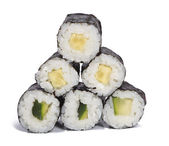 Cucumber maki rolls — Stock Photo