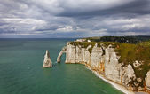 La Falaise d'Amont-Etretat — Stock Photo