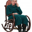 Old woman on the phone — Stock Photo #7232834