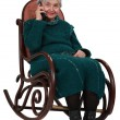 Old woman on the phone — Stock Photo #7232971