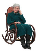 Old woman on the phone — Stock Photo