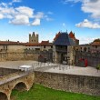 Entrance in Carcassone fortified town - Stock Photo