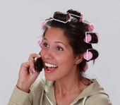 Reaction on the phone — Stock Photo