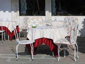 White terrace — Stock Photo